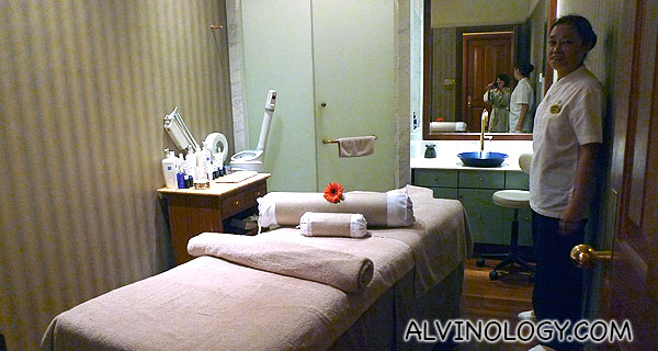 The spa and massage room