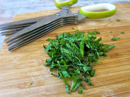 Chopped mint + herb shears