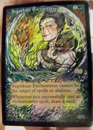 Argothian Enchantress Magic the Gathering altered mtg alter