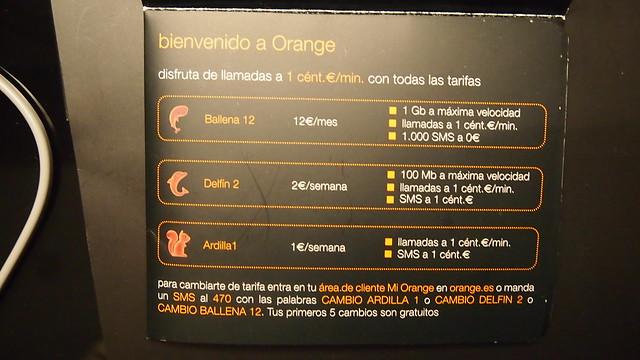Orange Spain SIM Card