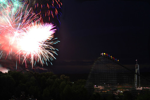 Fireworks over Holiday World