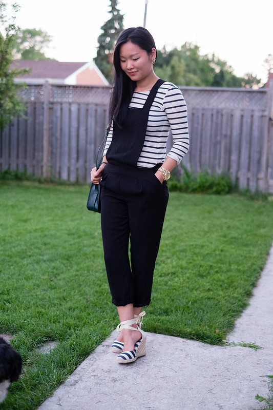 tailored jumpsuit striped top