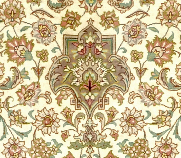 Qum Pure Silk Persian Area Rug