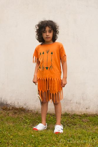 roupa de india diante