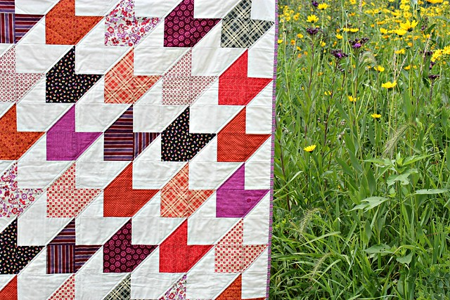 Chevron & On | A Finished Quilt