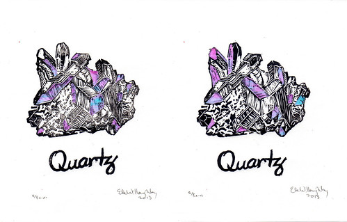 Quartz linocuts