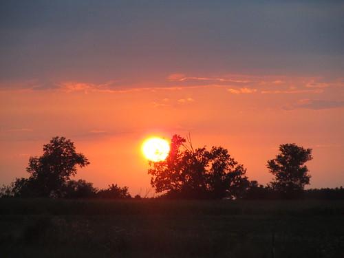 sunset indiana