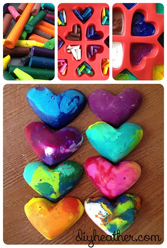 Heart Crayons by Heather Says