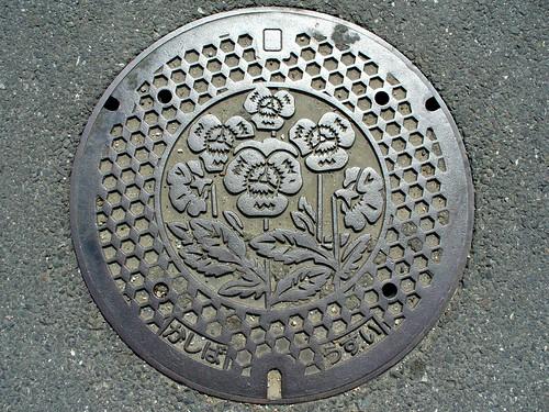 Kashiba Nara , manhole cover 2 (奈良県香芝市のマンホール2)