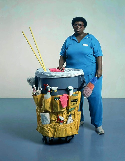 Duane Hanson, Lady with Cleaning Cart, 1980