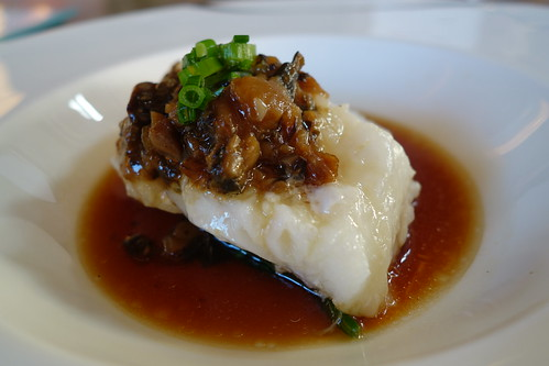 Steamed New Zealand Cod Fish with Yuzu Mushroom Sauce - Part of Forest's RWS Food Affair Menu