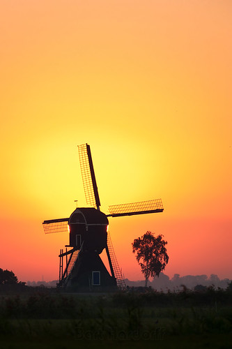 mill sunrise thenetherlands september molen zonsopkomst 2013 herwijnen