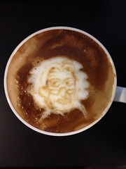 Today's latte, Cookie Clicker Grandma.