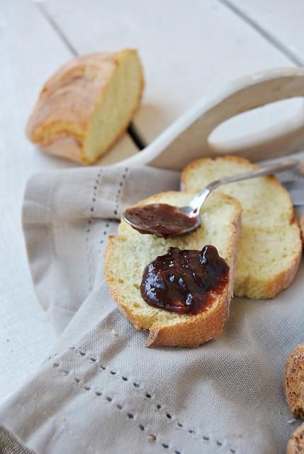 Plum, Chocolate and Amaretti Jam
