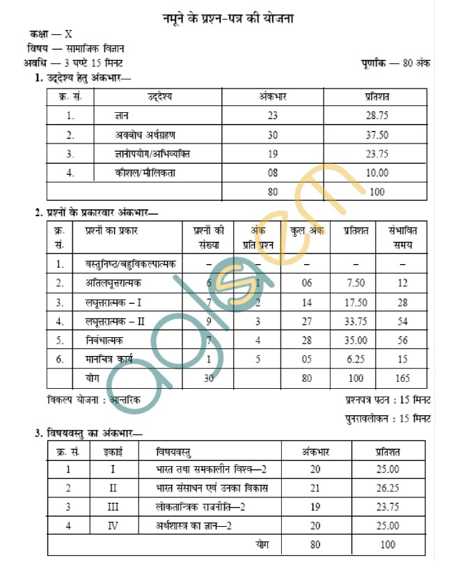 Rajasthan board class 10 social studies paper scheme and blue rajasthan board class 10 social studies paper scheme and blue print malvernweather Images