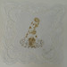 手帕系列No title. 2013. 感光樹酯版印於復古手帕Photopolymer on vintage doilie. 16 x 16 cm.