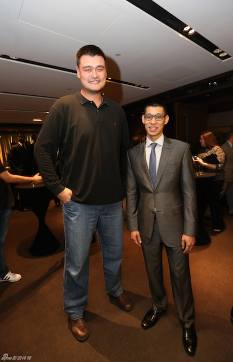 October 11, 2013 - Yao Ming and Jeremy Lin at a Welcome Reception as part of the 2013 Global Games at the Regent Hotel in Taipei, Taiwan