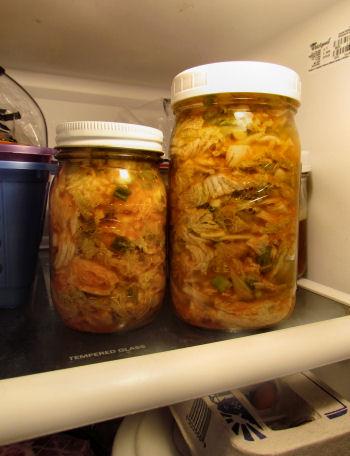 Homemade Kimchi Ready to Eat