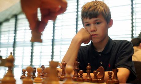Magnus Carlsen, aged 14.