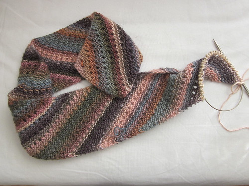 Noro Bias Lace Scarf III by Pointe Shoes Punk Rock And Purl Pix