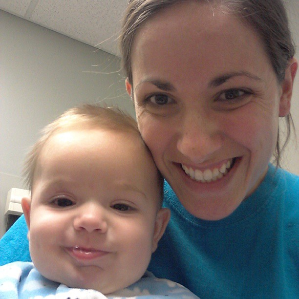 Still smiling after 1.5 hrs in the clinic, 101 fever and a definite ear infection.
