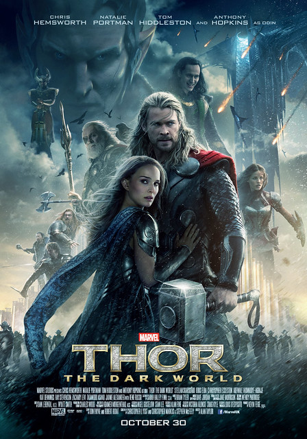 Thor 2: The Dark World poster Chris Hemsworth Natalie Portman Tom Hiddleston Loki Jane Foster