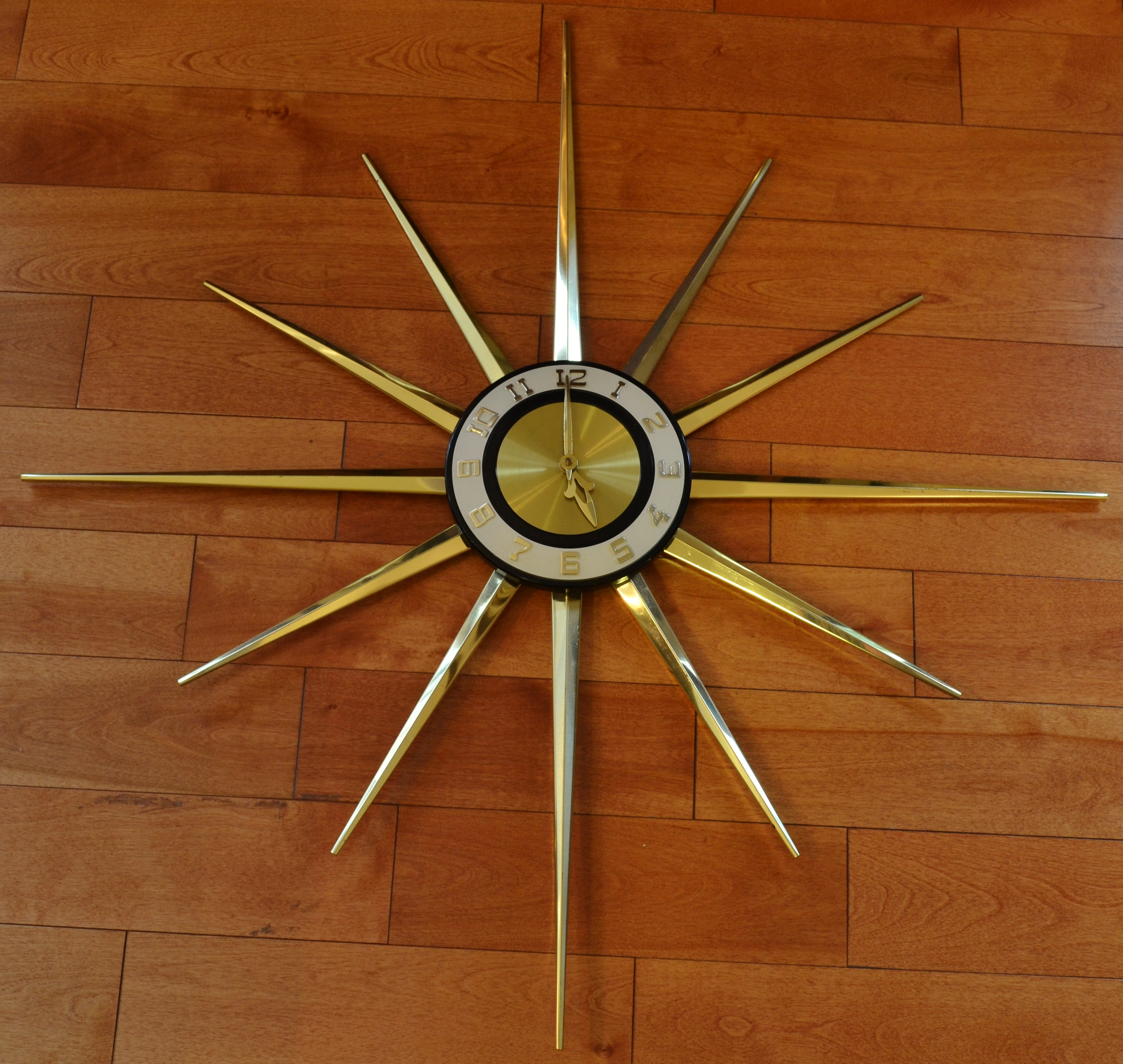 starburst wall clock by lux