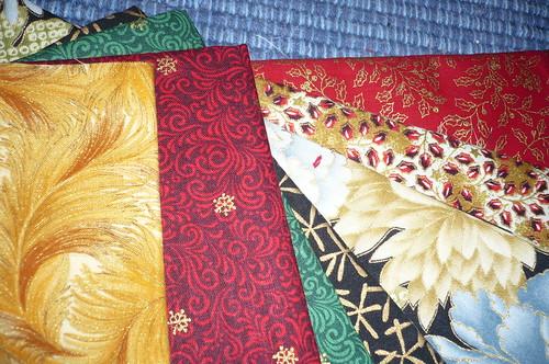 christmassy fabrics ...