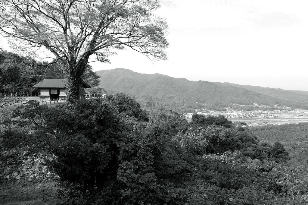 a view|月山富田城跡