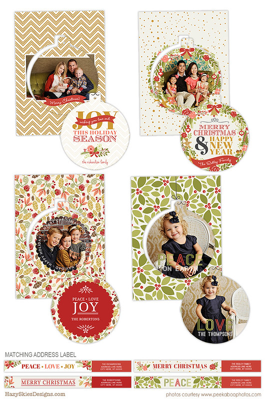Luxe Pop Christmas Templates for Photographers www.hazyskiesdesigns.com HC23336