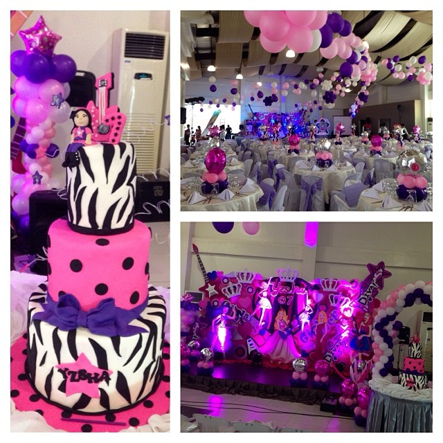 #popstarprincess party for #yzsha7th #ksnaps #ksnapsproductions #cake