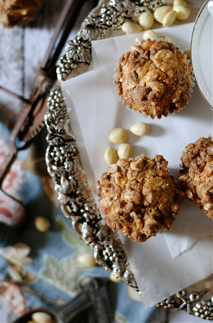 Pumpkin Cream Cheese Muffins with Almond Streusel Topping