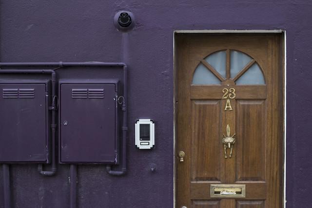 A door.