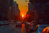 The Day After Manhattanhenge from 23rd Street by masemase