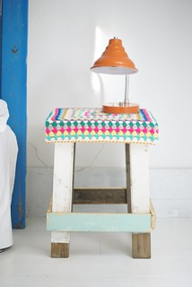 wood & wool stool emmanuelle