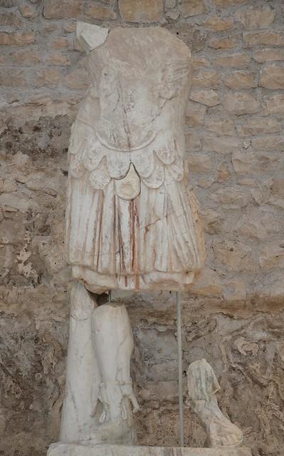 Statue of Emperor Tiberius, Archaeological museum Narona, Vid, Croatia