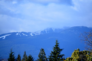 Grouse Mountain seen from SFU