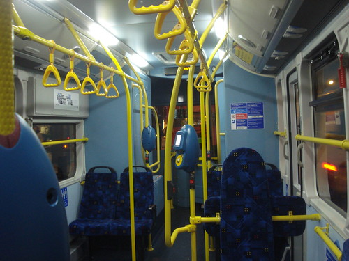 Interior of London General EB1 on Route 507