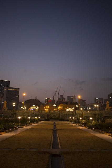 Sunset Nakanoshima park