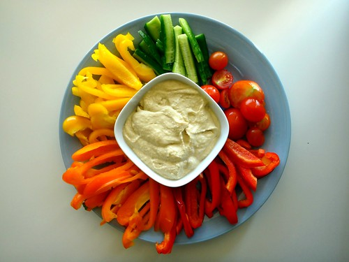 8) Vegetable & Dip Platter - صحن خضار وحمص
