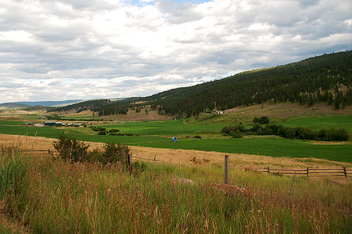 Farmland in Clinton, Highway 97, Cariboo, British Columbia, Canada