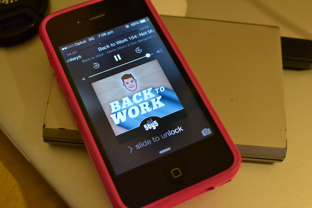 Listening to Back to Work, one of Ruben's favourite podcasts