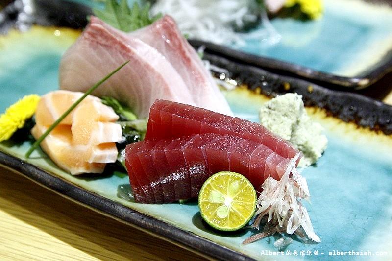 台北大同.若獅子和食:刺身盛合(紅丹肚、鮭魚、鮪魚)