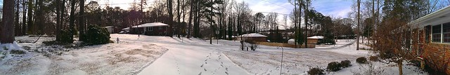 Panorama of Little John Trail / Marietta, GA / January 29, 2014