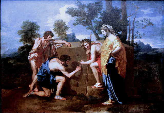 IMG_6504A Nicolas Poussin. 1594 1666. Rome. Les Bergers d'Arcadie, dit aussi Et in Arcadia ego. Vers 1638 - 1640. Louvre