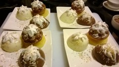 meal, profiterole, food, dish, dairy product, dessert, cuisine,