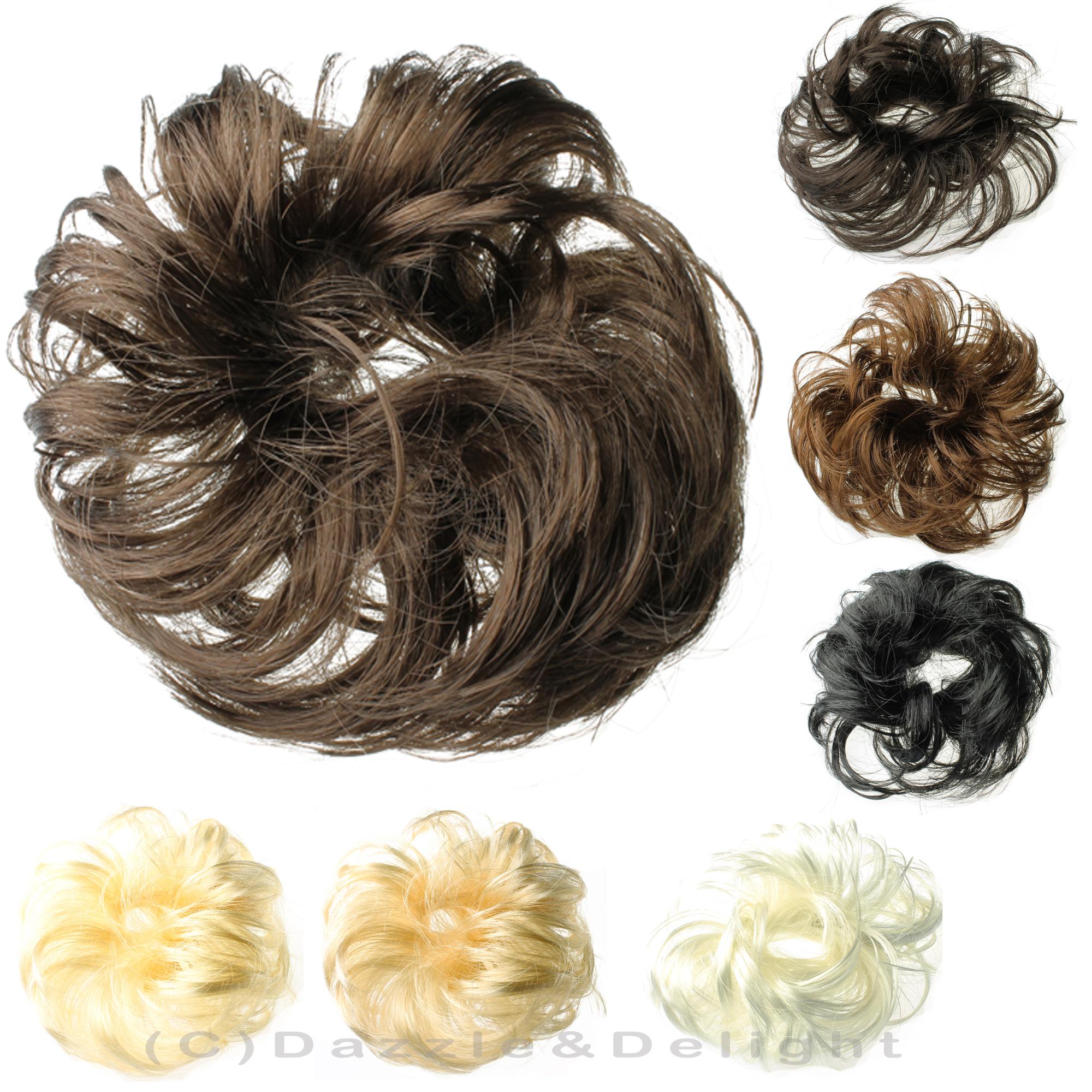 Prime Hair Scrunchies Synthetic Hair Scrunchie Brown Blonde Black Messy Short Hairstyles For Black Women Fulllsitofus