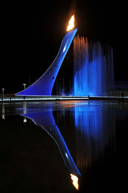 Olympic Flame Reflection