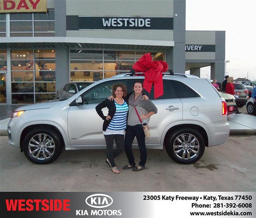 Happy Anniversary to Jeff Thompson on your 2013 #Kia #Sorento from Suliveras Wilfredo and everyone at Westside Kia! #Anniversary by Westside KIA