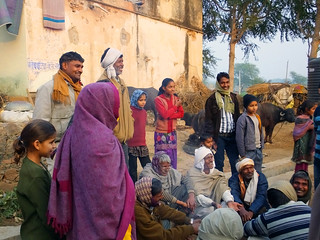 People in small village between Agra and Jaipur, India